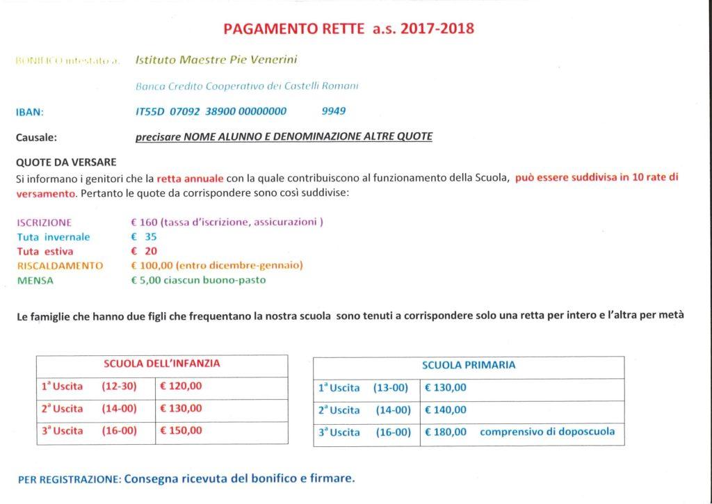 Rette Mastre Pie Venerini Ariccia